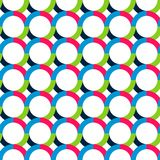 Abstract seamless pattern with circles. Bright saturated colors. Interlacing of geometric shapes Royalty Free Stock Photo