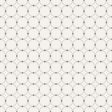 Abstract seamless pattern. Circles connected with dots. Stock Photography
