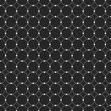 Abstract seamless pattern. Circles connected with dots. Royalty Free Stock Photo