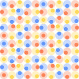 Abstract seamless pattern with circles. Royalty Free Stock Photos