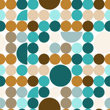 Abstract seamless pattern with circles. Stock Photos