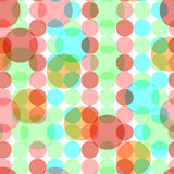 Abstract seamless pattern with circles. Royalty Free Stock Image