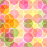 Abstract seamless pattern with circles. Stock Image