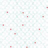 Abstract seamless pattern with circles and red dots royalty free illustration