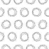 Abstract seamless pattern with circles Royalty Free Stock Image