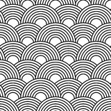 Abstract seamless pattern with circles. Vector seamless texture for wallpapers, pattern fills, web page backgrounds royalty free illustration