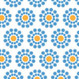 Abstract seamless pattern of a circular form. Of blue, yellow color.Background for broad application with a possibility of change.Vector illustration Stock Photo