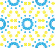 Abstract seamless pattern of a circular form. Of blue, yellow color.Background for broad application with a possibility of change.Vector illustration Royalty Free Stock Photography