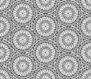 Abstract seamless pattern with circular ornament Royalty Free Stock Image