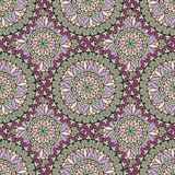 Abstract seamless pattern with circular ornament Swirl geometric Stock Photos
