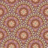 Abstract seamless pattern with circular ornament Swirl geometric Royalty Free Stock Photography