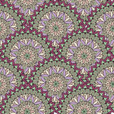 Abstract seamless pattern with circular ornament Swirl geometric Royalty Free Stock Images