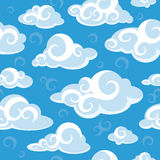 Abstract seamless pattern with clouds Stock Photos