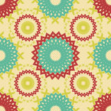 Abstract seamless pattern of cogwheel shaped elements Stock Photo