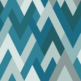 Abstract seamless pattern in cold colors. Zigzag. Abstract seamless geometric pattern in cold tones of rhombuses. Zigzag vector illustration