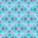 Abstract seamless pattern in cold tones, with rounded. Abstract seamless pattern with rounded elements in cool tones with pink and light blue outline Royalty Free Illustration