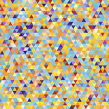 Abstract Seamless Pattern with Color Triangles. Stock Photography