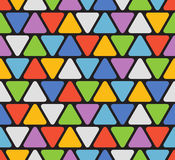 Abstract seamless pattern with color triangles Stock Photos