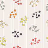 Abstract seamless pattern with colored circles Royalty Free Stock Images