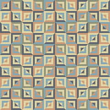 Abstract seamless pattern of colored divided square blocks Royalty Free Stock Photos