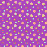 Abstract seamless pattern with colored flowers. Paper flowers ba. Ckground. Vector illustration Royalty Free Stock Photos