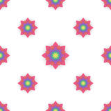 Abstract seamless pattern with colored flowers. Paper flowers ba. Ckground. Vector illustration Royalty Free Stock Photography