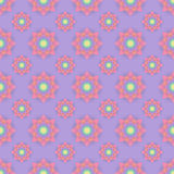 Abstract seamless pattern with colored flowers. Paper flowers ba. Ckground. Vector illustration Royalty Free Stock Photo