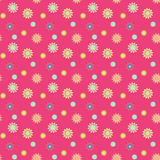 Abstract seamless pattern with colored flowers. Paper flowers ba. Ckground. Vector illustration Stock Image
