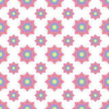 Abstract seamless pattern with colored flowers. Paper flowers ba. Ckground. Vector illustration Stock Photos