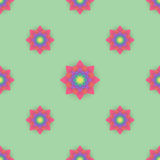 Abstract seamless pattern with colored flowers. Paper flowers ba. Ckground. Vector illustration Royalty Free Stock Images