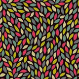 Abstract seamless pattern with colored leaves Stock Images