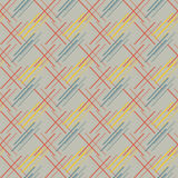 Abstract seamless pattern of colored oblique segments Stock Image