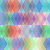 Abstract seamless pattern with colored rhombus, spectrum effect. Vector Royalty Free Stock Image