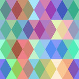 Abstract seamless pattern with colored rhombus. Vector Stock Photography