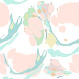 Abstract seamless pattern. Seamless pattern with colored spots. Ebru art Royalty Free Stock Photography