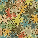 Abstract seamless pattern with colored spots Stock Image