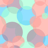 Abstract seamless pattern with colorful circles. Vector illustration. Stock Images