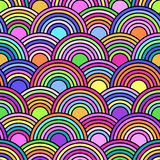 Abstract seamless pattern with colorful circles Royalty Free Stock Photography
