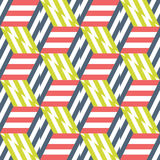 Abstract seamless pattern of colorful cubes and triangles. Royalty Free Stock Image