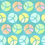 Abstract seamless pattern with colorful cutting rounded elements Stock Image