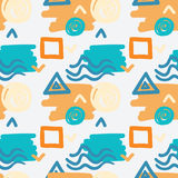 Abstract seamless pattern. Colorful decorative background. For print. Geometric doodle elements Royalty Free Stock Image