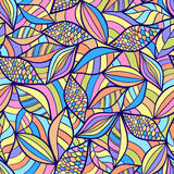 Abstract seamless pattern with colorful elements Stock Images