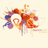 Abstract seamless pattern with colorful hand drawn blots Stock Photo