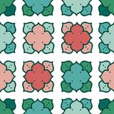 Abstract seamless pattern with colorful rosettes royalty free illustration