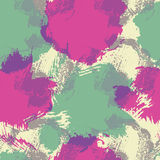 Abstract seamless pattern with colorful stains and smears Royalty Free Stock Photos