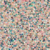Abstract Seamless Pattern with Colorful Tender Triangles. Stock Images