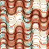 Abstract seamless pattern of colorful waves Stock Photos