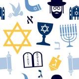 Judaism Seamless Pattern royalty free illustration
