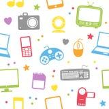 Multimedia Seamless Pattern royalty free illustration