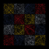 Abstract Seamless Pattern. Composed of colored squares Stock Image